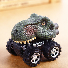 Baby Car Pull Back Car Dino Toy with Big Tire Wheel 3-14 Years Old Boy Girl Creative Gift for Kids Pull Back Dinosaur Model Toys kids collectible cute animal model dinosaur panda vehicle mini elephant bear toy truck tiger pull back car boy toys for children