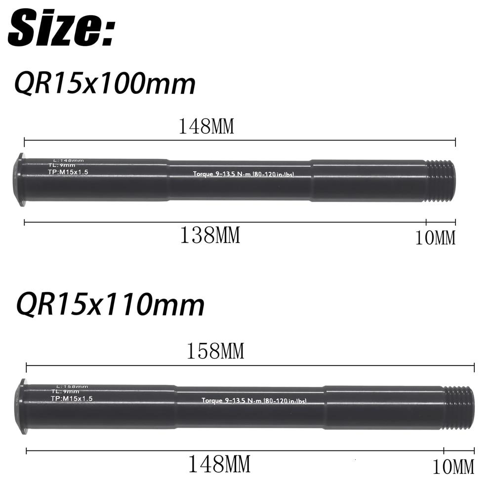 MTB fork QR15x100 QR15X110MM Thru Axle Lever Accessories for ROCKSHOX 38g