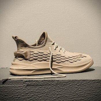 2019 New Mens Mesh Breathable Soft Shoes Jogging Shoes Male Comfortable Training Shoes кроссовки мужские