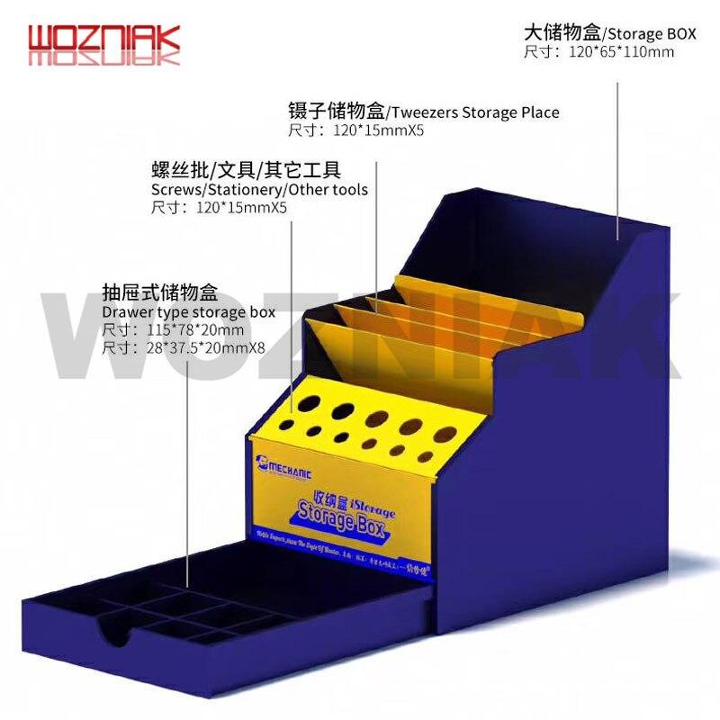 Mechanic Large Space Tool Storage Box Screwdriver Holder Mainboard Spare Parts Screw Tweezers Desktop Drawer Arrangement Boxs