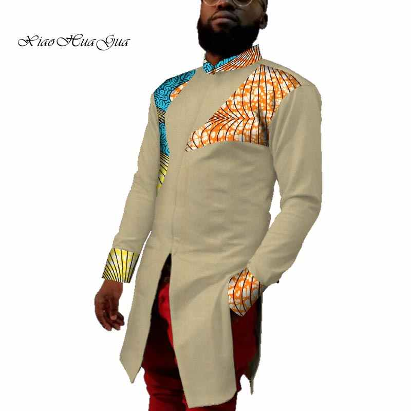 2020 New African Print Clothing African Men Shirt Causal Wedding ...
