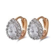 AliExpress, распродажа, Золотые серьги для женщин, Bijoux CC, серьги-кольца Brincos CZ Zircons, серьги, 3E18K-20