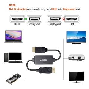Image 3 - نشط 4K HDMI إلى ديسبلايبورت 1.2 محول كابل محول 1.8 متر HDMI في DP خارج
