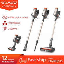 Womow Cordless Vacuum Cleaner 25000pa Powerful Suction Aspiradora Sin Cables Stick Handheld Vacuum Cleaner Wireless W20 For Home