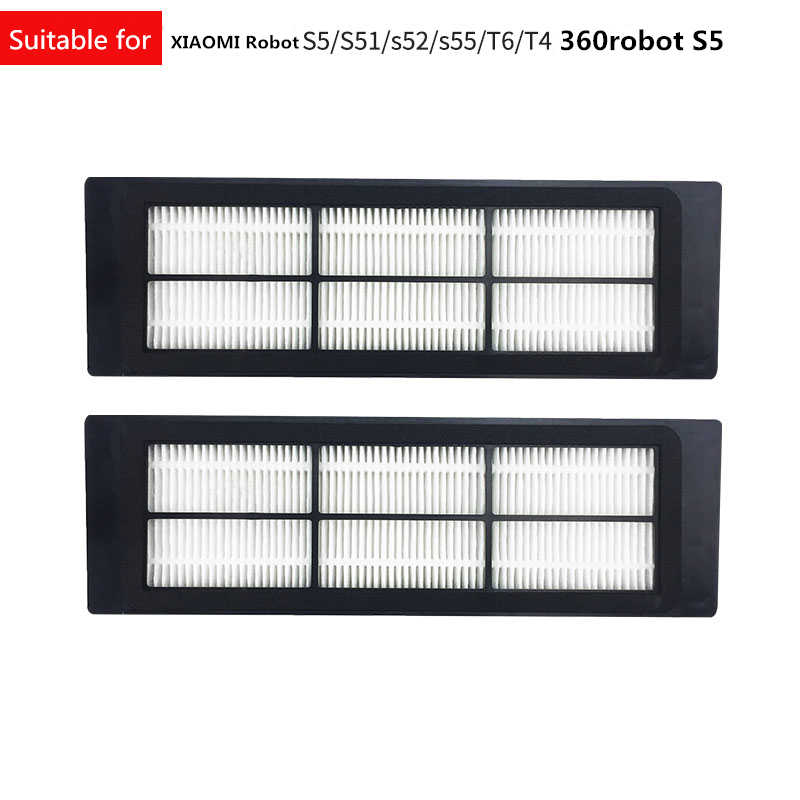 2Pcs/set Black General Version Waterproof Washable HEPA Filter for Mi Robot 360 S5  for xiaomiment