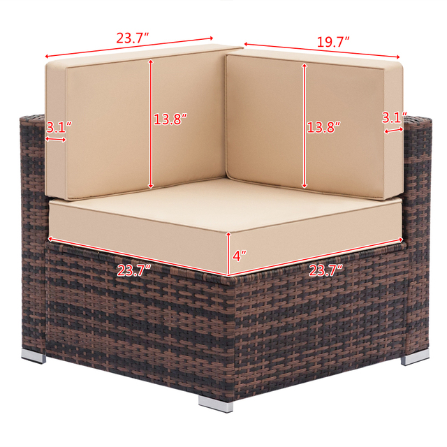 Fully Equipped Weaving Rattan Sofa Set  3