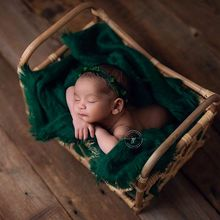 Newborn Photography Props Baby Vintage Woven Basket Photo Shooting Infant Props Container Newborn Take Photo Background Props