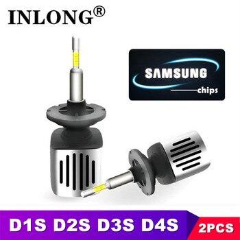 2PCS D1S H7 Led 9005 9006 HB3 Car LED Headlight Bulbs H11 H9 D2S HB4 D3S H1 H4 D4S SAMSUNG CSP 11200LM Headlamp Fog Lights 6500K