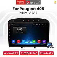 Junsun V1 Pro 4G + 64G Android 9,0 4G coche Radio reproductor Multimedia para Peugeot 408 Peugeot 308, 308S 2012 -2020 GPS no 2din autoradio