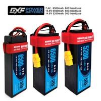 Dxf 7.4V 14.8V 2S 4S 6500 Mah 5200 Mah 50C 60C Max 100C 120C Lipo Batterij 2S 4S Hardcase Voor 1/8 1/10 Rc Auto Model Slash Emaxx-in Onderdelen & accessoires van Speelgoed & Hobbies op