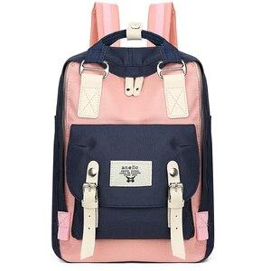 Girl Schoolbag Small Middle Junior School Student Backpacks For Womne Unicorn Doughnut Mochila Escolar Girls Bags 35cm height