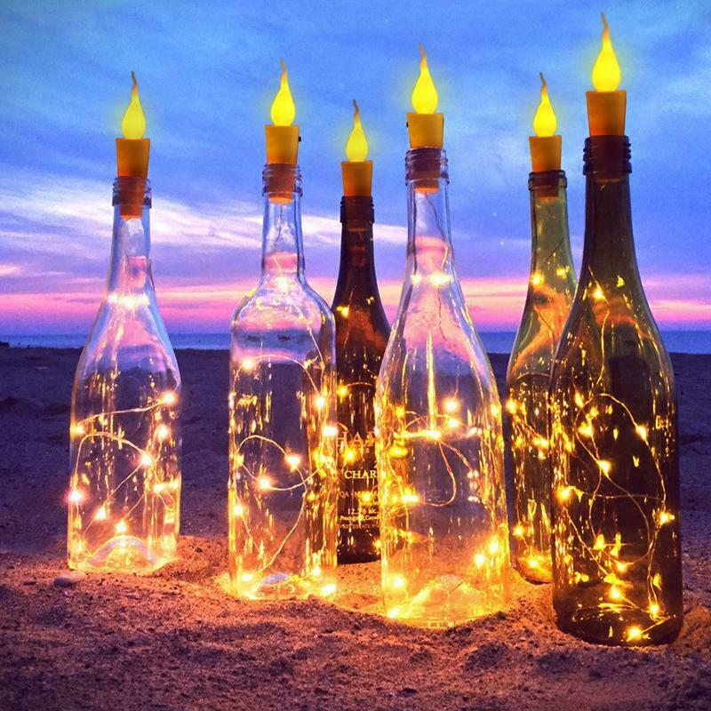 2M 20Leds String Lights With Cork 2020 New Battery Powered Wine Bottle Strings Light For Party Wedding Christmas Bar Decor