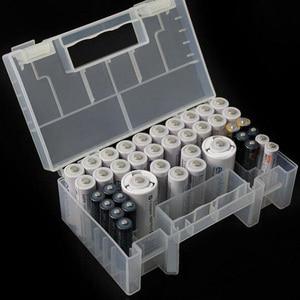 Image 1 - מעשי ללבוש עמיד סוללה מקרה אנטי השפעה קשה פלסטיק תיבת אחסון גדול קיבולת מיכל פנימי תא AA AAA