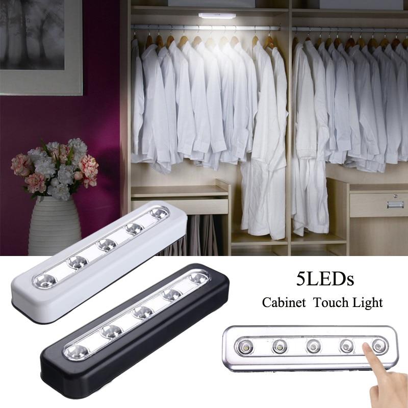Touch/Voice LED Under Cabinet Light Battery  LED Night Lamp For Wardrobe Cupboard Closet Kitchen Lighting Led White Light