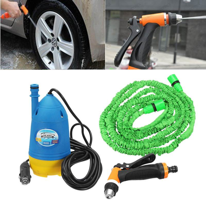 Car Wash Guns 12V Portable Car Washer Water Pump High Pressure Cleaner Washing Machine Auto Pressure Washer Garden Water Guns