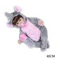 Reborn bébé poupée 42cm doux silicone corps mignon poupée éléphant aime poupée jouets pour filles boneca Bebe bébé poupée cadeaux d'anniversaire jouets