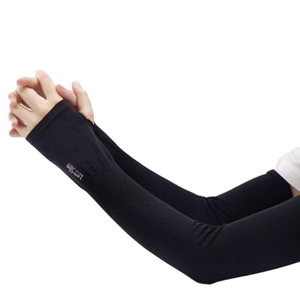 Section Drove UV Sunscreen Half Finger Cuff Sunscreen Arm Sleeves Hand Protection Women Men Fingerless Long Gloves