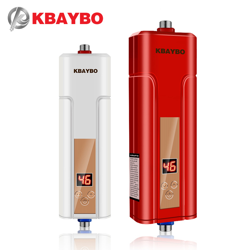 KBAYBO 5500W Instantaneous Water Heater Tap Red Water Heater Instant Water Heater Electric Shower Free Shipping