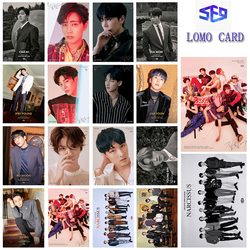 Kpop Sf9 First Collection 16PCS/SET LOMO CARD YOUNG BIN Lee Jae Yoon ROWOON Photocard Fans Collection Jh110