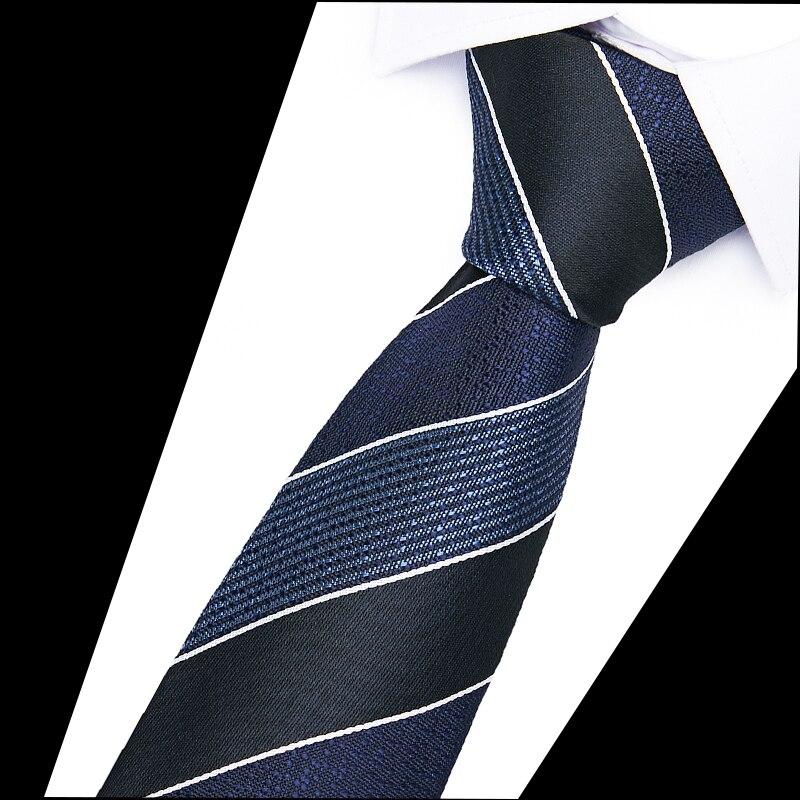 Luxury Necktie Business Wedding Neckwear Gift Ties New Mens 100% Silk Skinny Tie 6cm Slim Fashion Classic Neck Tie Striped