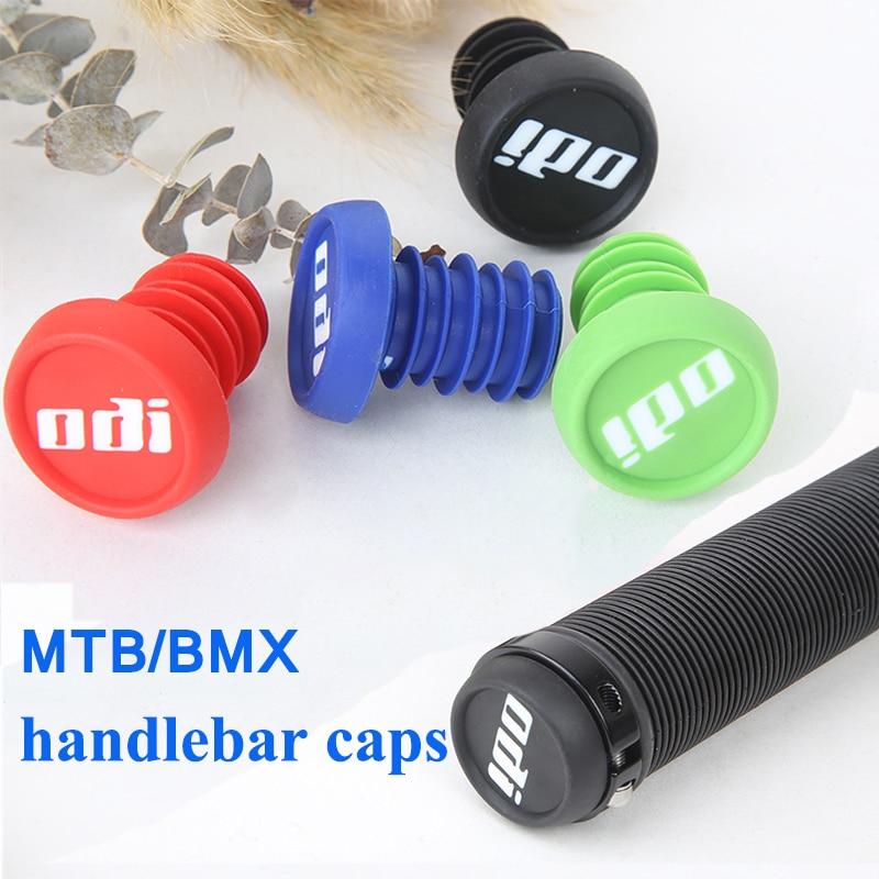 ODI 2pc Bar End Plugs MTB Bicycle Grip End Plugs Anti-slip Firm Handle Bar Caps Lightweight for BMX DH FR Balance Bike Handlebar