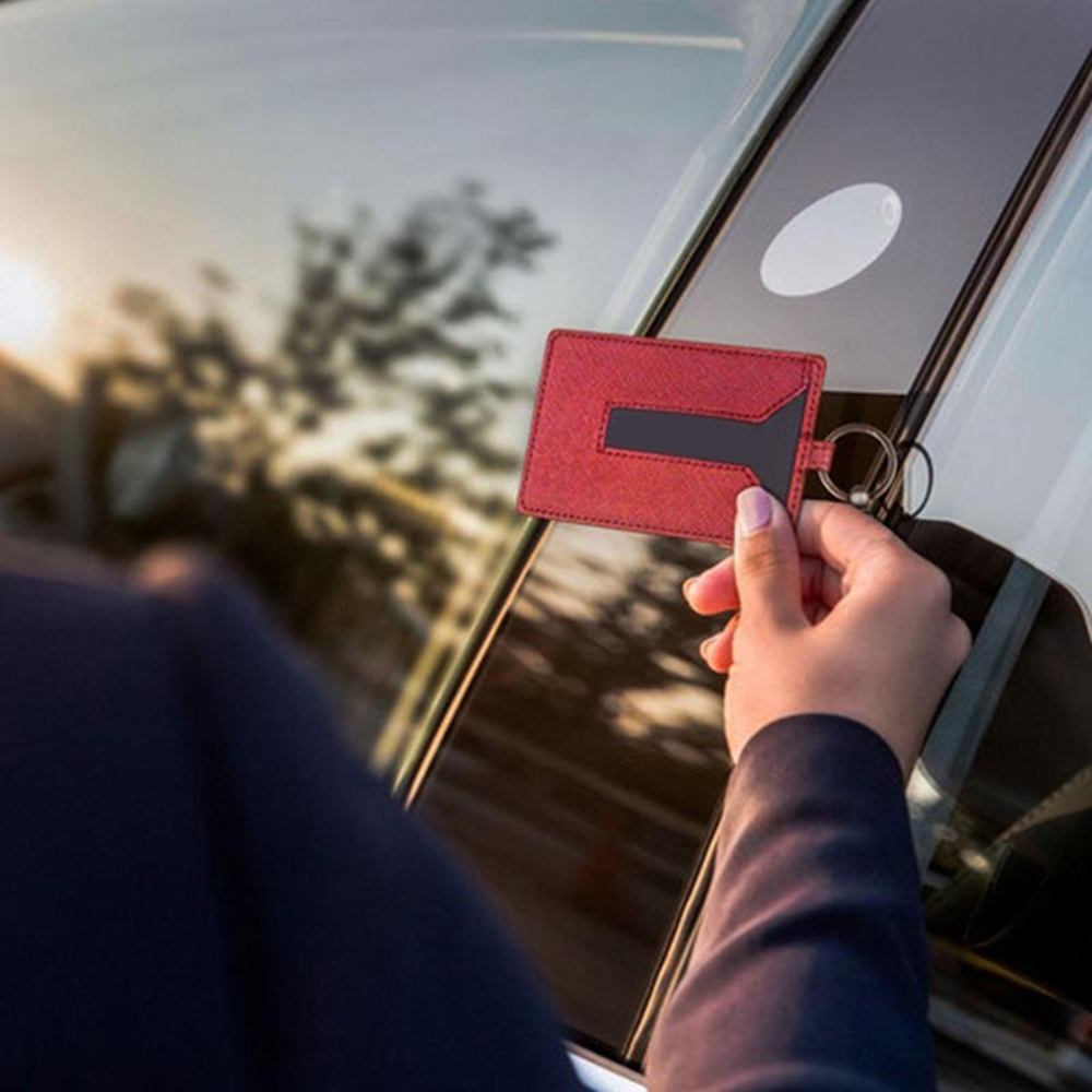 Image 2 - Кожаный брелок держатель для карт, защитный чехол цепочка для Tesla, модель 3, изготовлен из высококачественного прочного автомобильного интерьера, аксессуары, продукт-in Футляр для автомобильного ключа from Автомобили и мотоциклы on AliExpress