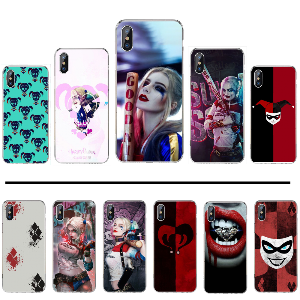 Harley Quinn Suicide Squad Coque Shell Phone Case For iphone 4 4s 5 5s 5c se 6 6s 7 8 plus x xs xr 11 pro max