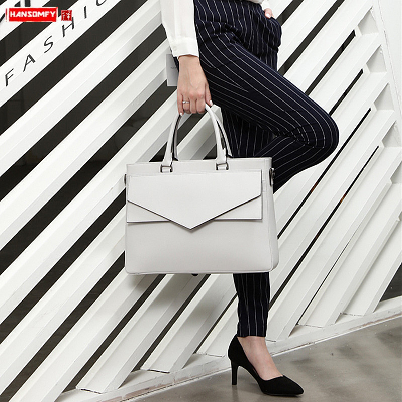 2019 Luxury Fashion Women Handbags Business Briefcase Female 14 Inch Laptop Bag OL Shoulder Messenger Bag Waterproof Travel Bags