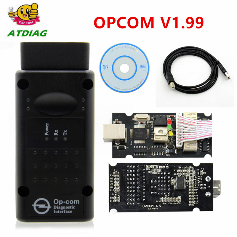 Opcom v1.99 pic18f45 1.70 1.78 v1.59 v1.60 firmware OP-COM op-el diagnóstico-ferramenta op com com real pic18f458 ftdi opcom 1.99