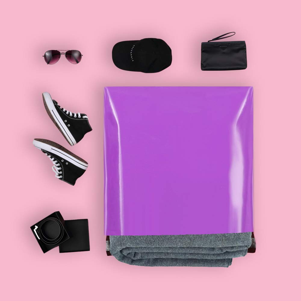 10Ppcs/lot Purple Plastic Envelope Self-seal Adhesive Courier Storage Bags Plastic Poly Envelope Mailer Shipping Bags