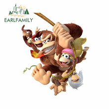 Sticker Donkey Kong Arcade Silhouette Family Car Bumper Decal Van-Decoration Personality