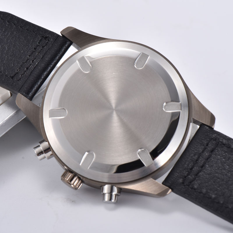Relógio de quartzo multifunction masculino 41mm luminoso