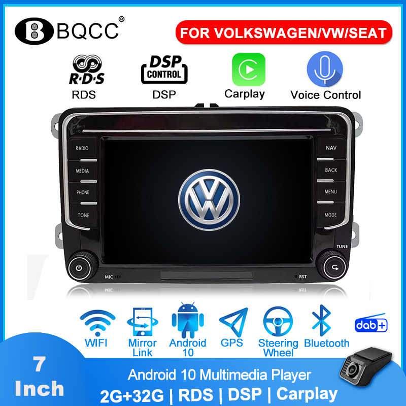 Автомагнитола 2 din для VW PASSAT B6 B7 Golf Android 10 мультимедийный плеер 7