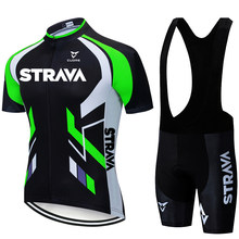 2021 Team STRAVA Cycling Jerseys Bike Wear clothes Quick-Dry bib gel Sets Clothing Ropa Ciclismo uniformes Maillot Sport Wear