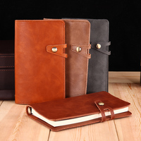Cuaderno de viaje Retro de cuero suave de cuatro colores se puede engrosar pequeño y fresco cuaderno de negocios Logotipo de empresa personalizado gratis