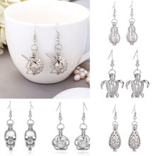 Pearl Cage Earring Jewelry Unicorn Findings Pendant Essential Oil Diffuser Locket For Oyster Women Bead