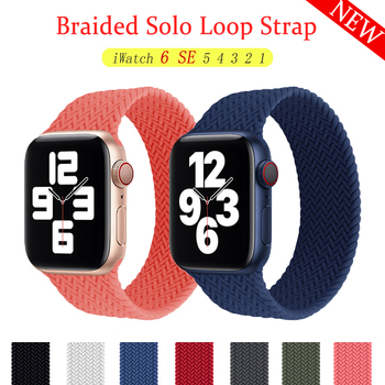 Solo Loop For Apple watch band 44mm 40mm 38mm 42mm Sport wristband Silicone Strap for iWatch series 6 SE 5 4 3