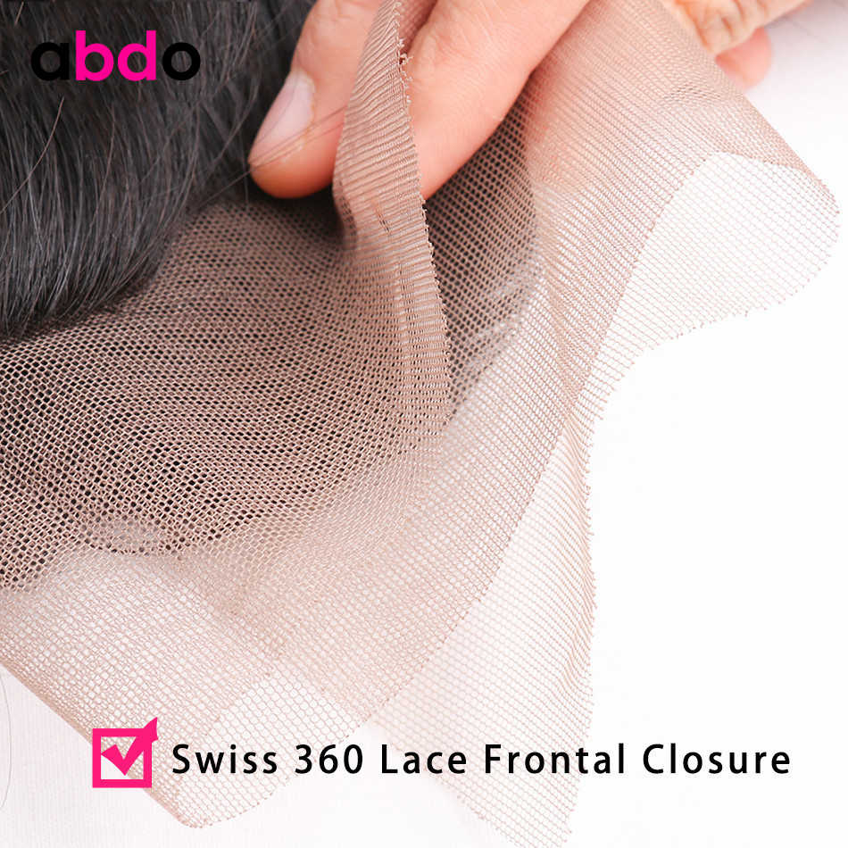 Abdo malezja ciało fala nie Remy ludzki włos włosy 360 koronka Frontal zamknięcie z Baby włosów Natural Color 8-20 cal darmowa wysyłka