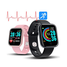 Smart Watch witch Y68 Sport Fitness Tracker Clock Support Heart Rate Monitor Blood Pressure and Reminder Call Bracelet(China)