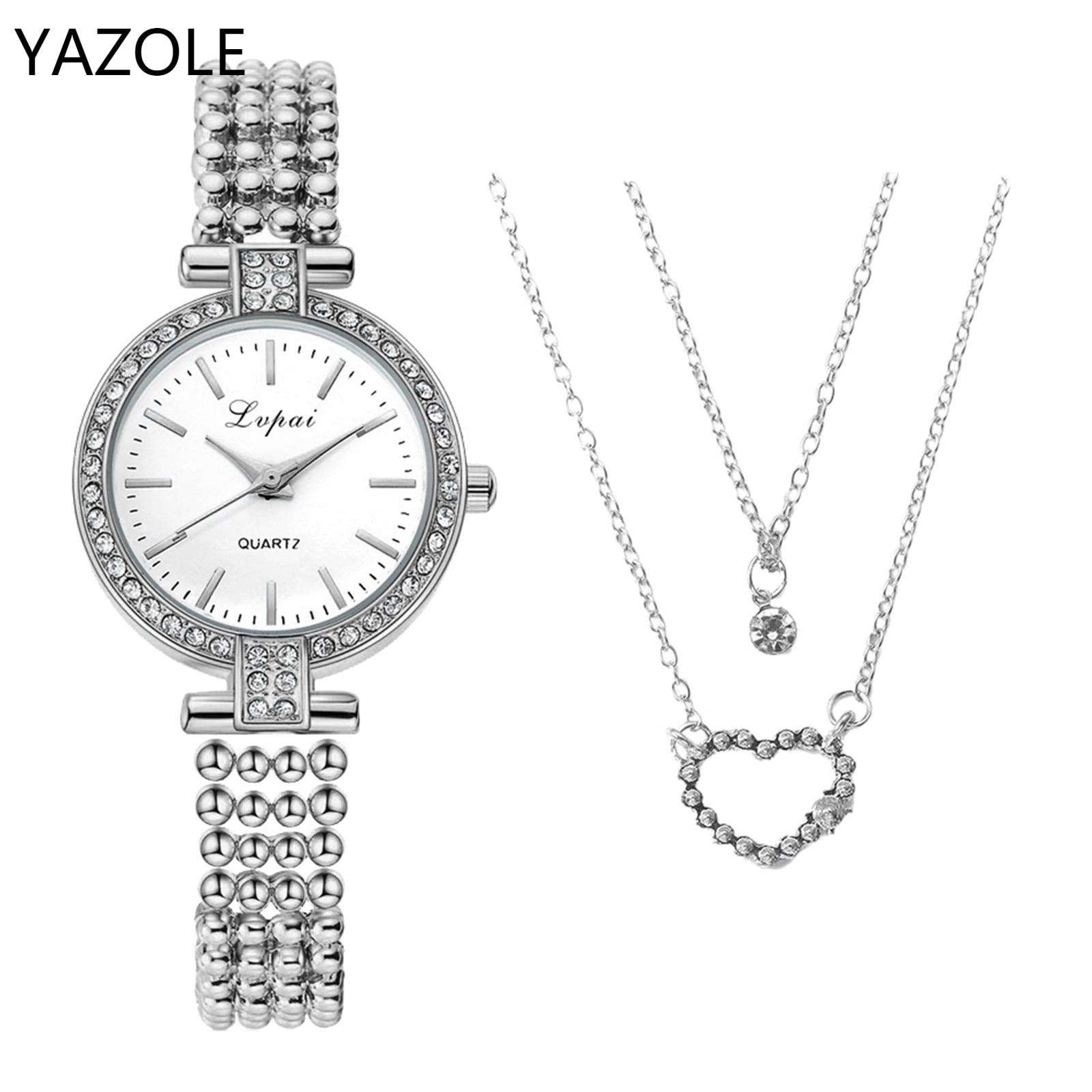 ממותג אישה שעון Orologio דונה למעלה מותג עסקים מקרית קוורץ יוקרה שעון עם שרשרת גבירותיי תכשיטי מתנת שילוב
