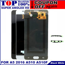 "5.2"" A510 LCD For Samsung Galaxy A5 2016 A510 A510F A510M A510FD AMOLED LCD Display Touch Screen Digitizer Assembly Replacement(China)"