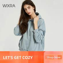 Wixra Vrouwen Casual Sweatshirts Solide Classic Lange Mouw Losse Truien Tops 2019 Herfst Lente Basic Trui Tops(China)