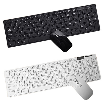 Vococal Slim Wireless 2.4G Keyboard + Mouse Set + USB Receiver + Film for Mac PC Laptop Android TV Accessories Gadgets