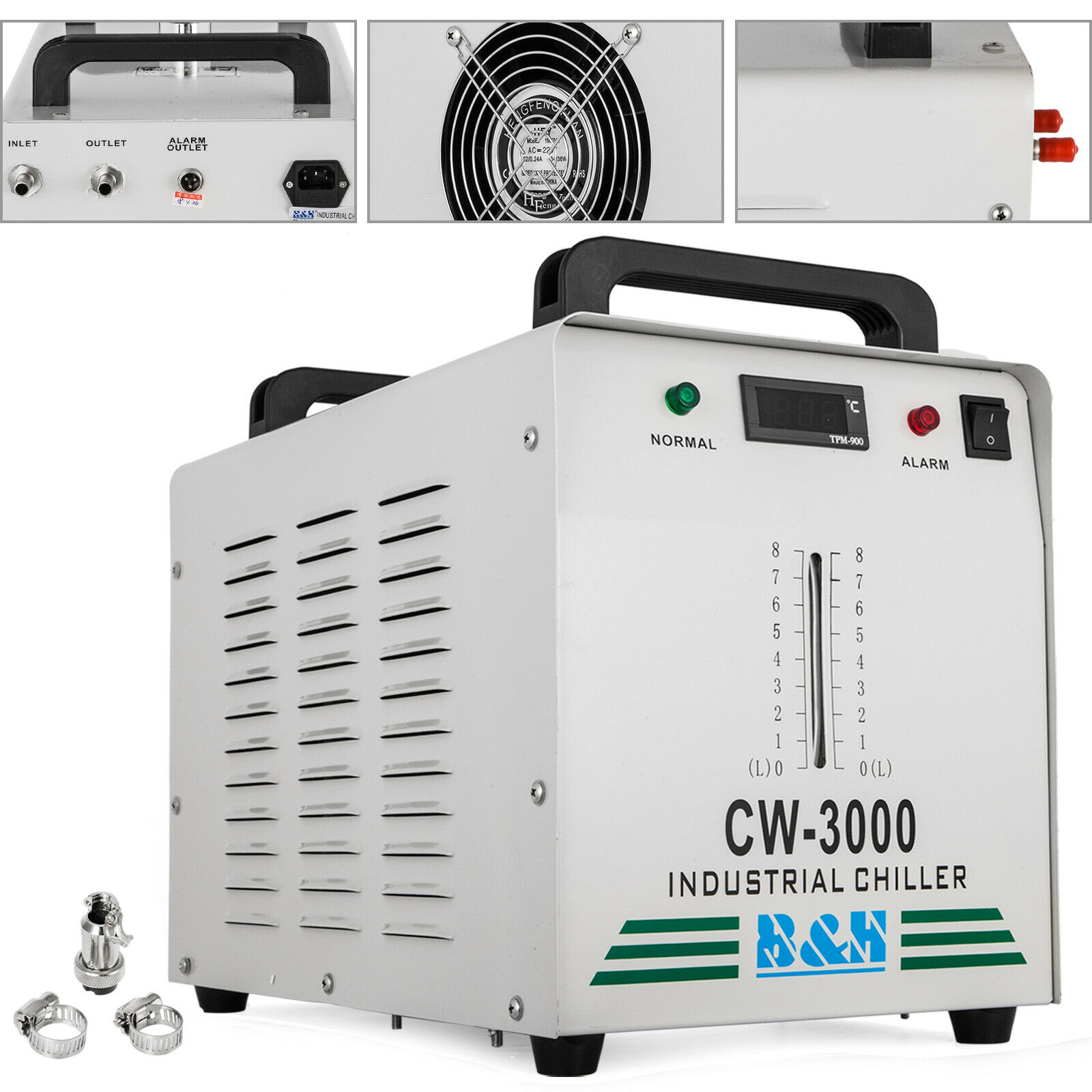 CW-3000 Thermolysis Industrial Water Cooler Chiller for CNC/ Laser Engraver Engraving Machines 60W/80W