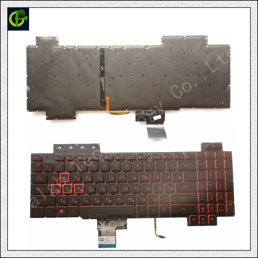 Russian Backlit Keyboard For Asus TUF Gaming FX505 FX505GD FX505GE FX505GM RU Laptop