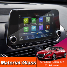 Car Styling Dashboard GPS Navigation Screen Glass Protective Film Sticker For Nissan Altima L34 2019 2020 Control of LCD Screen