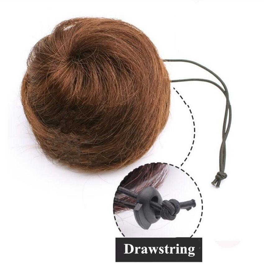 Шнурок шиньоны конский хвост наращивание волос булочка шиньон для создания прически бразильские человеческие волосы булочка пончик шиньоны волосы кусок парик не Реми