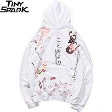 2019 Hip Hop Hoodie kazak japon karikatür sarhoş Ninja kedi Harajuku Hoodie Streetwear erkekler komik Hoodies kazak büyük boy