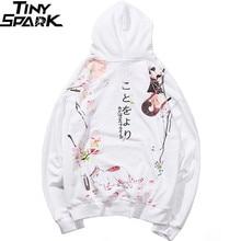 2019 в стиле «хип хоп» свитер с капюшоном японский мультфильм секс ниндзя кошки Харадзюку Толстовка уличная Для мужчин забавные толстовки пуловер негабаритных