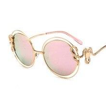 Snake Round Sunglasses For women Brand Designer Vintage Uniq